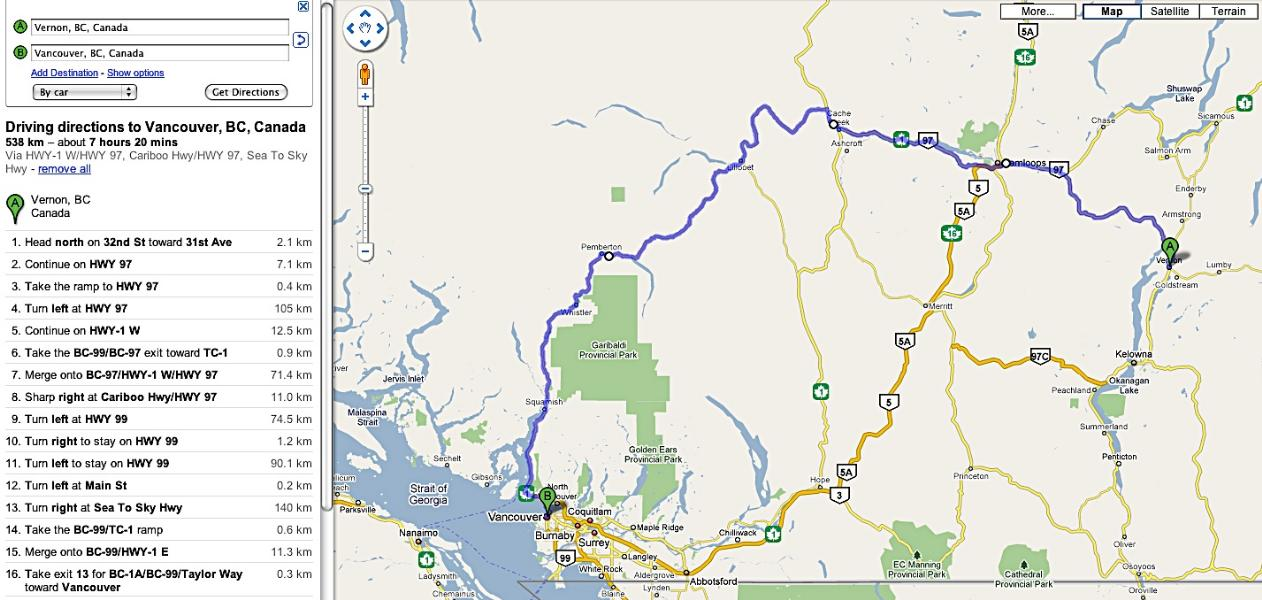 vernon-to-vancouver-map